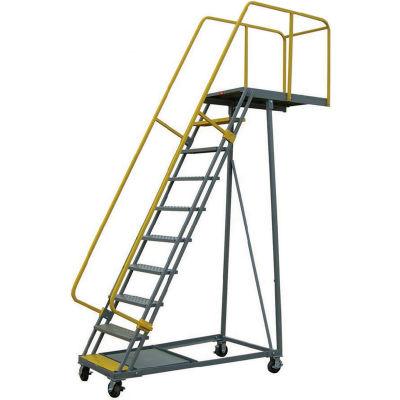 """P.W. Platforms 12 Step Steel Rolling Cantilever Platform, 24"""" Step Width - BS12SH30-SP"""