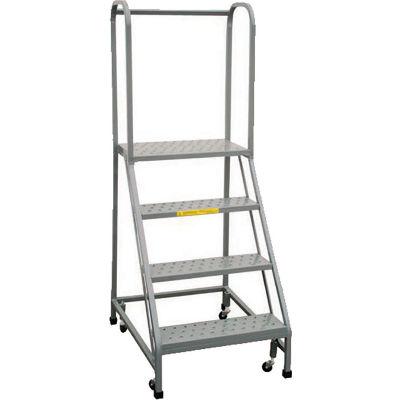 "P.W. Platforms 2-Step Rolling Ladder , Serrated, 18"" Step Width - GS2S18"