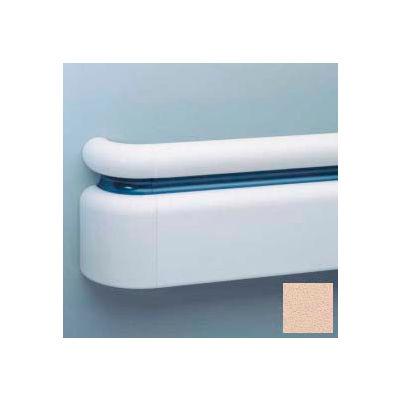 "All Vinyl Three-Piece Handrail System, 6.25"" Face, Aluminum Retainer, 12' Long, Desert Sand"