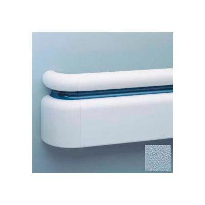 """All Vinyl Three-Piece Handrail System, 6.25"""" Face, Aluminum Retainer, 12' Long, Blue Fog"""