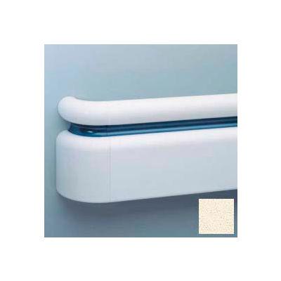"All Vinyl Three-Piece Handrail System, 6.25"" Face, Aluminum Retainer, 12' Long, Porcelain"