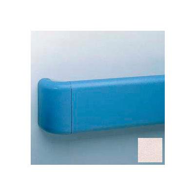 Vinyl Crash Rail-Type Handrail, Aluminum Retainers, 5-1/2'' High, 12' Long, Taupe