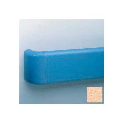 Vinyl Crash Rail-Type Handrail, Aluminum Retainers, 5-1/2'' High, 12' Long, Cappuccino