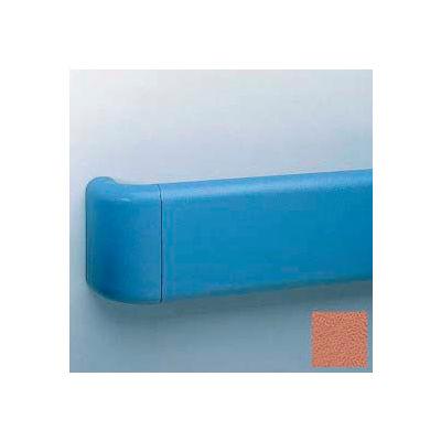 Vinyl Crash Rail-Type Handrail, Aluminum Retainers, 5-1/2'' High, 12' Long, Ginger Spice