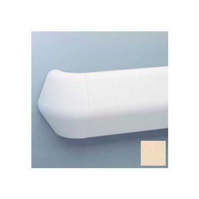 "Flex-Action Triangular Handrail/Wall Guard, 5 3/8"" Face, Aluminum Retainer, 12' Long, Champagne"