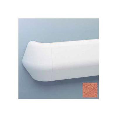 "Flex-Action Triangular Handrail/Wall Guard, 5 3/8"" Face, Aluminum Retainer, 12' Long, Ginger Spice"