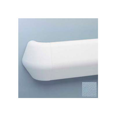 "Flex-Action Triangular Handrail/Wall Guard, 5 3/8"" Face, Aluminum Retainer, 12' Long, Blue Fog"