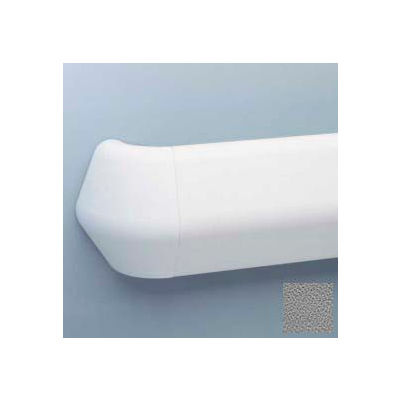 "Flex-Action Triangular Handrail/Wall Guard, 5 3/8"" Face, Aluminum Retainer, 12' Long, Gray"
