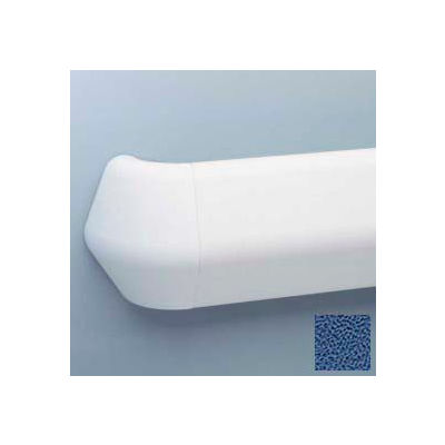 "Flex-Action Triangular Handrail/Wall Guard, 5 3/8"" Face, Aluminum Retainer, 12' Long, Brittany Blue"