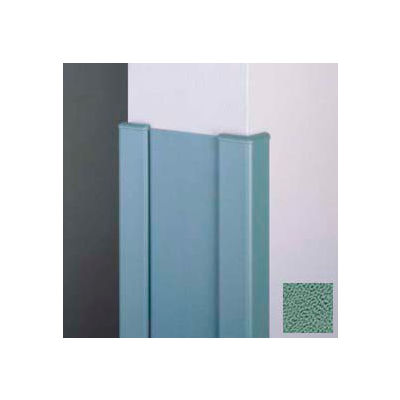 """Surface Mounted End Wall 90° Corners, 2'' Wings, 4'H W/Caps, 6""""W, Teal, Aluminum"""