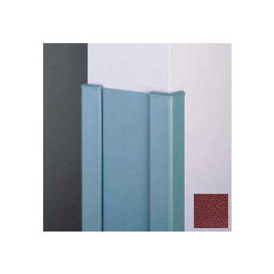 """Surface Mounted End Wall 90° Corners, 2'' Wings, 8'H W/Caps, 6""""W, Cordovan, Aluminum"""