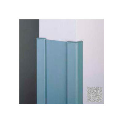 """Surface Mounted End Wall 90° Corners, 2'' Wings, 12'H W/Caps, 6""""W, Pearl Gray, Recycled Vinyl"""