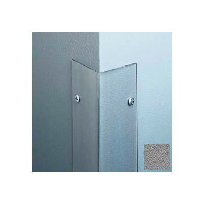 """Polycarbonate Surface Mounted 135° Corner Guard, 2-1/2"""" Wing, 4'H, Gray, Drilled"""