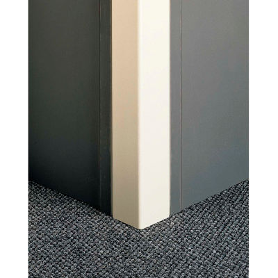 "Pawling® CGP-7-12-583 Flush-Mounted PETG Corner Guards, 3"" Wing x 12', 90°"