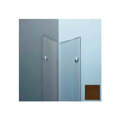 """Polycarbonate Surface Mounted 135° Corner Guard, 2-1/2"""" Wing & 4'H, Brown, Taped"""