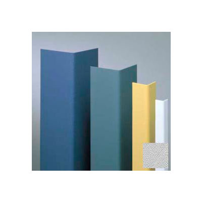 """Vinyl Surface Mounted Corner Guard, 90° Corner, 1-1/2"""" Wings, 8' Height, Silver Gray, Undrilled"""
