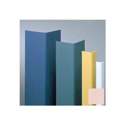 "Vinyl Surface Mounted Corner Guard, 135° Corner, 1-1/2"" Wings, 12'H, Ecru, Undrilled"