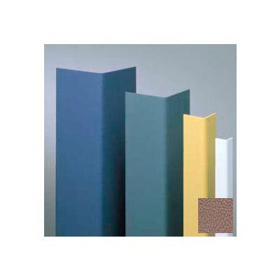 """Vinyl Surface Mounted Corner Guard, 135° Corner, 1-1/2"""" Wings, 4'H, Café Au Lait, Undrilled"""