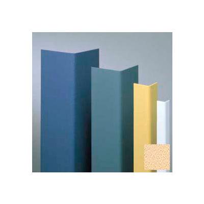 "Vinyl Surface Mounted Corner Guard, 135° Corner, 1-1/2"" Wing, 8'H, Silkworm, Undrilled"