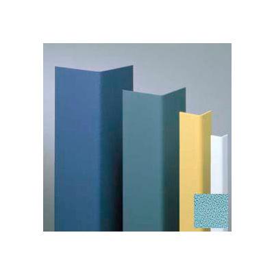 "Vinyl Surface Mounted Corner Guard, 90° Corner, 3/4"" Wings, 12' Height, Stormy BL, Vinyl"