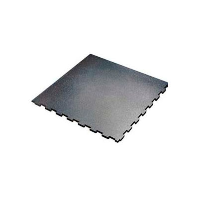"Pawlings Pro-Tek® Protect-O-Pad Interlocking Mat Tile, 1/2"" Thick, 48""L x 48""W, Black - Pkg Qty 12"