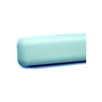 """Wall Guard W/Rounded Top & Bottom Edges, Aluminum Retainer, 2-516""""H x 12'L, Taupe"""