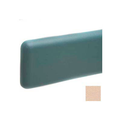 """Wall Guard W/Rounded Top & Bottom Edges, Aluminum Retainer, 6""""H x 12'L, Desert Sand"""