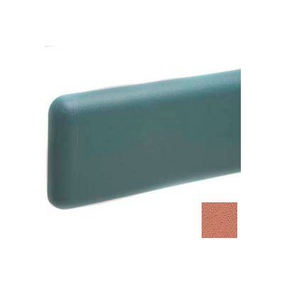 """Wall Guard W/Rounded Top & Bottom Edges, Aluminum Retainer, 6""""H x 12'L, Ginger Spice"""