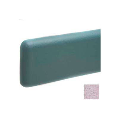 """Wall Guard W/Rounded Top & Bottom Edges, Aluminum Retainer, 6""""H x 12'L, Lavender Heather"""