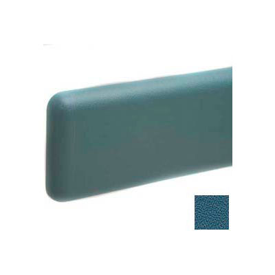 """Wall Guard W/Rounded Top & Bottom Edges, Aluminum Retainer, 6""""H x 12'L, Alexis Blue"""