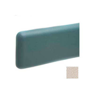 """Wall Guard W/Rounded Top & Bottom Edges, Aluminum Retainer, 6""""H x 12'L, Khaki Brown"""