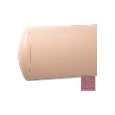"Crescent Shaped Wall Guard, Aluminum Retainer, 8""H x 12'L, Victorian Rose"
