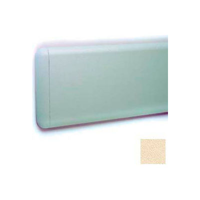 """Wall Guard W/Rounded Top & Bottom Edges, Aluminum Retainer, 7-3/4""""H x 12'L, Ivory"""