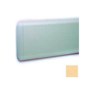 "Wall Guard W/Rounded Top & Bottom Edges, Aluminum Retainer, 7-3/4""H x 12'L, Saffron"