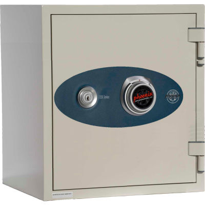 Phoenix Safe Olympian Key & Combination Dual Control Fire Resistant Safe 0.87 cu ft, Off-White