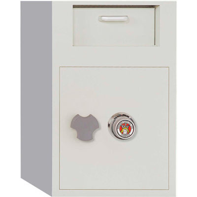 Phoenix Safe Front Loading Dial Combination Lock Depository Safe 2.0 cu ft, Off-White, Steel