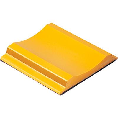 Rigid Temporary Raised Pavement Marker W/ Adhesive, 2-Way, Yellow - Pkg Qty 200