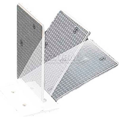 "Plastic Concrete Barrier Mount Reflector, 3"" X 4"", Flex Hinge, 1-Sided, White - Pkg Qty 50"
