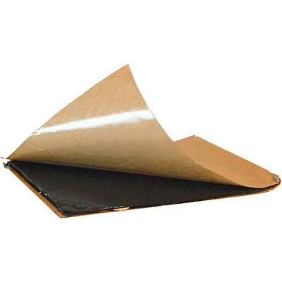 "Adhesive Peel & Stick Butyl Pad, 8"" X 8"", Black - Pkg Qty 25"