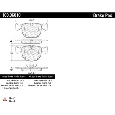Centric Original Equipment Formula Brake Pads with Hardware, Centric Parts 100.06810