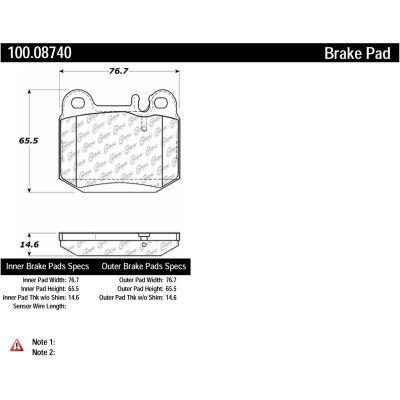 Centric Original Equipment Formula Brake Pads with Hardware, Centric Parts 100.08740