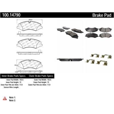 Centric Original Equipment Formula Brake Pads with Hardware, Centric Parts 100.14790