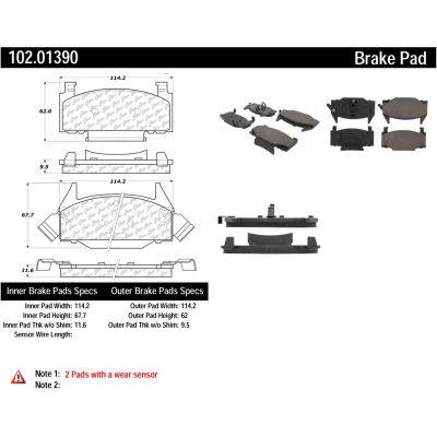 C-Tek Semi-Metallic Brake Pads with Shims, C-Tek 102.01390