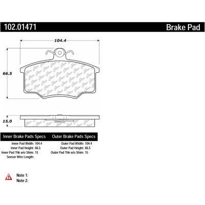 C-Tek Semi-Metallic Brake Pads with Shims, C-Tek 102.01471