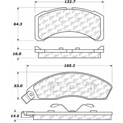 C-Tek Semi-Metallic Brake Pads with Shims, C-Tek 102.01520