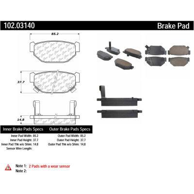 C-Tek Semi-Metallic Brake Pads with Shims, C-Tek 102.03140