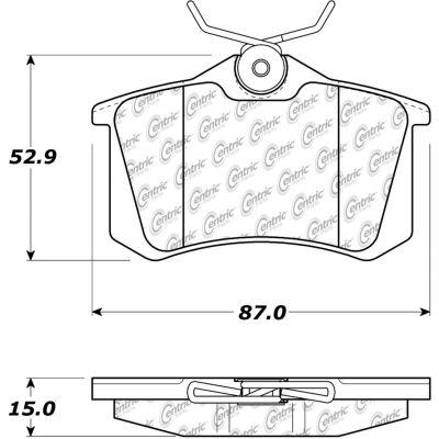 C-Tek Semi-Metallic Brake Pads with Shims, C-Tek 102.03340