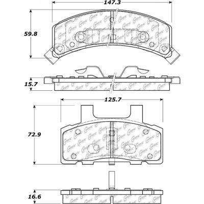 C-Tek Semi-Metallic Brake Pads with Shims, C-Tek 102.03680