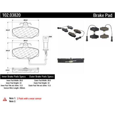 C-Tek Semi-Metallic Brake Pads with Shims, C-Tek 102.03820