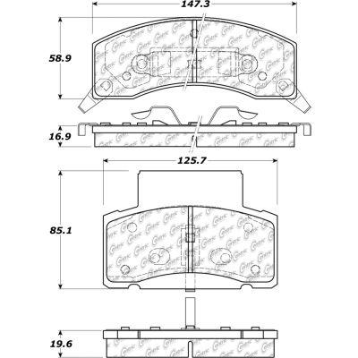 C-Tek Semi-Metallic Brake Pads with Shims, C-Tek 102.04590
